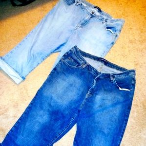Riders Instantly Slims You Size 20 Cropped Jeans